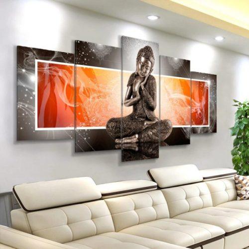 Grand tableau Bouddha