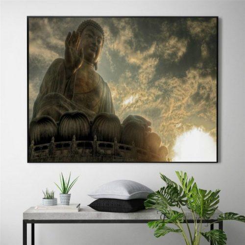 Tableau statue Bouddha