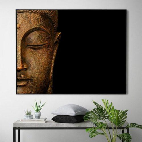 Tableau Bouddha noir
