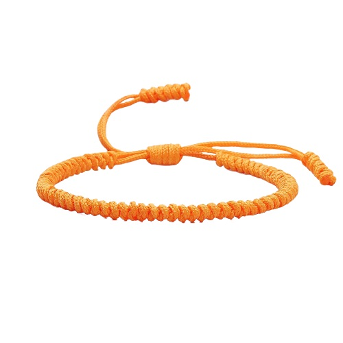 Bracelet bouddhiste orange