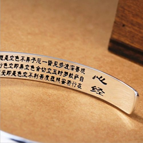Bracelet bouddhiste argent