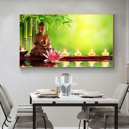 Tableau Bouddha nature zen