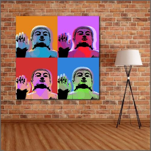 Tableau Bouddha pop art