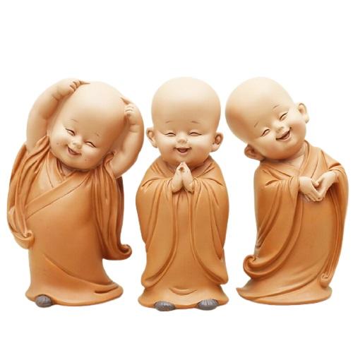Petite statue moine bouddhiste