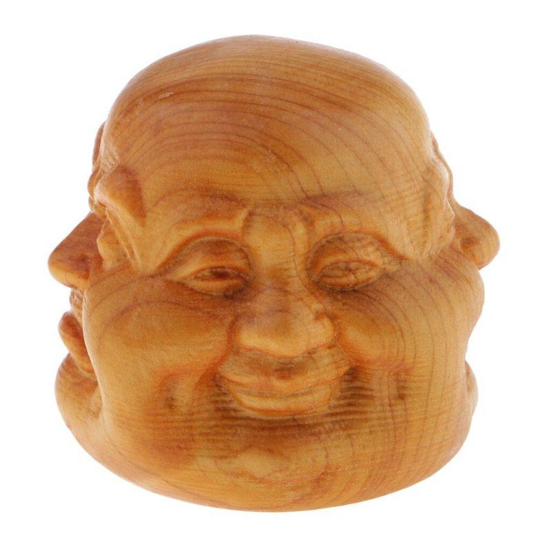 Statue tête Bouddha 4 visages