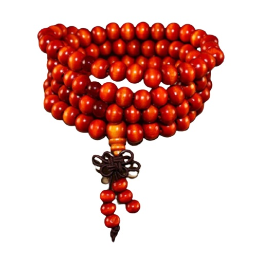 Collier bouddhiste rouge