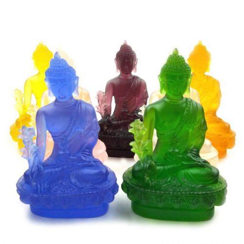 Statue Bouddha couleur