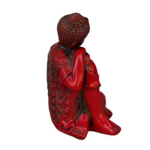 Statue Bouddha rouge