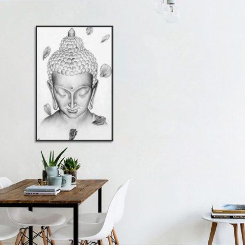 Tableau Bouddha méditation