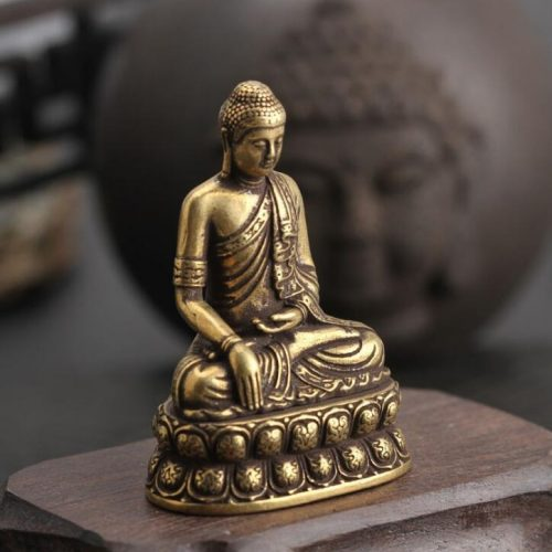 Statue Bouddha cuivre