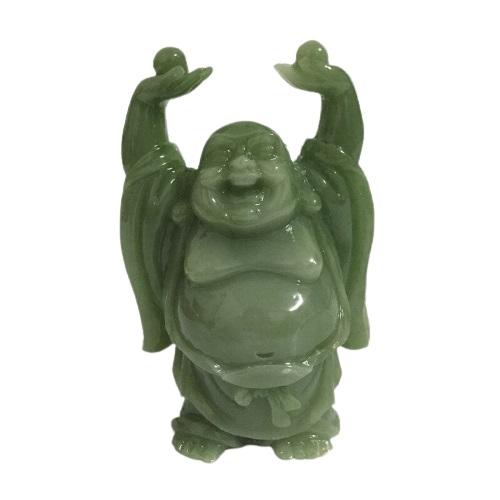 Statue Bouddha en jade vert