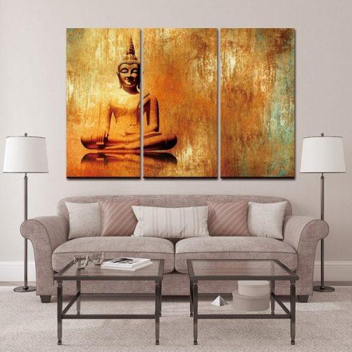 Tableau Bouddha peinture à l'huile