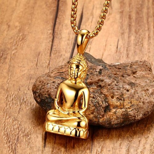 Pendentif Bouddha or
