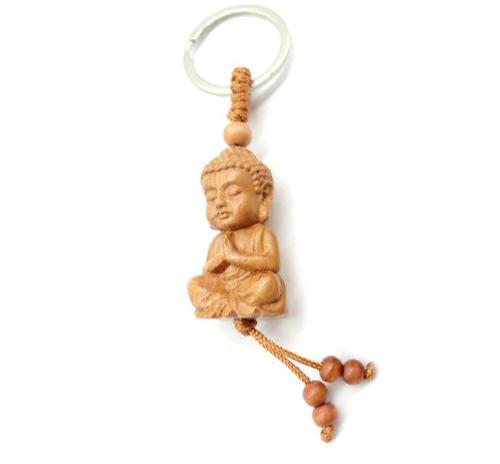 Pendentif Bouddha en bois