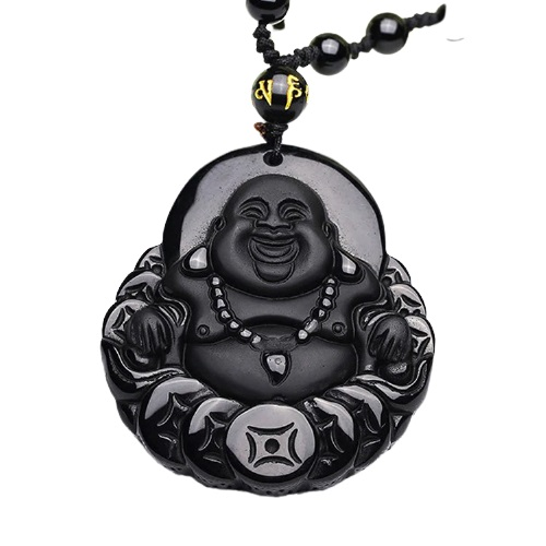 Pendentif Bouddha noir